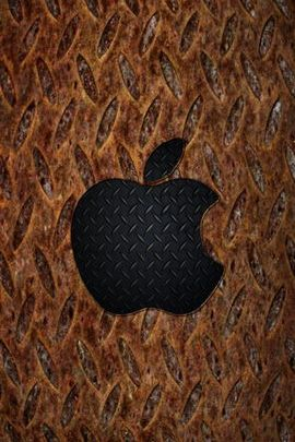 Rusty Diamond Plate & Apple