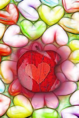 Lovely Hearts Apple