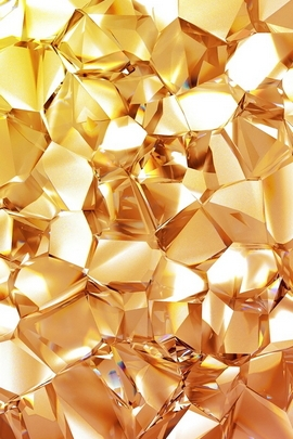 Geometric Gold Diamond
