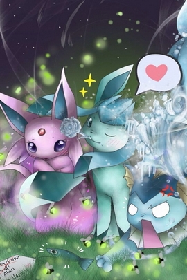 Glaceon And Espeon