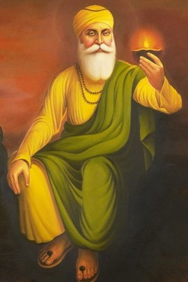 Guru Nanak Holding Lamp