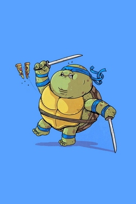 Fat Mutant Ninja Turtles Leornardo