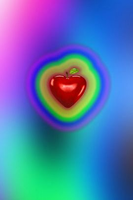 Rainbow Love Apple