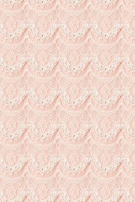 Peach Floral Lace Curtain Pattern