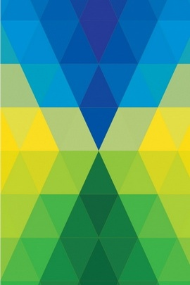 Abstract Colorful Rhombus