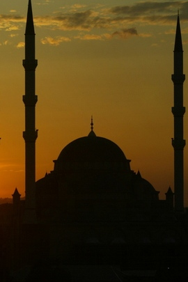 Sunset Sky Mosque