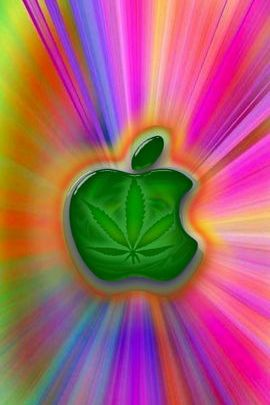 Psychedelic Marijuana Apple Green