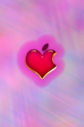 Gold Edged Pink Heart