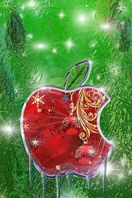 Christmas Apple Logo
