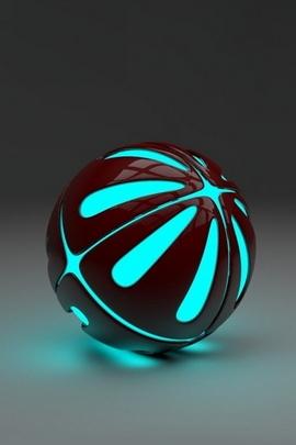 Balle stéréo bleue 3D
