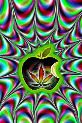 Trippy Marijuana Apple