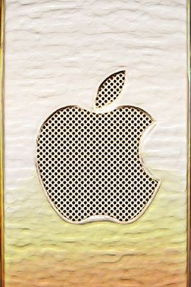 Golden en relieve Apple