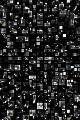 Wallpaper Black And White 3D Squares