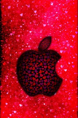 Grungy valentines Apple