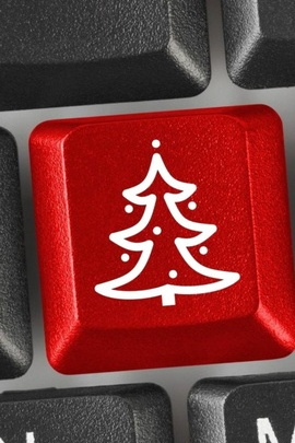 Christmas Tree On Computer Keyboard