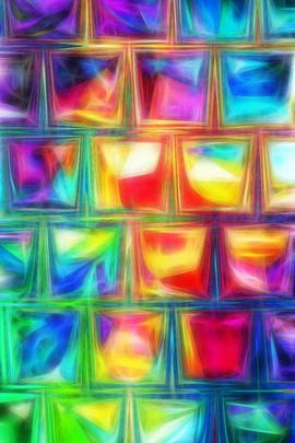 Яркие кубики
