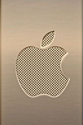 Gold Metal & Mesh Apple