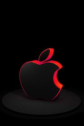 Red Carbon Fiber Apple