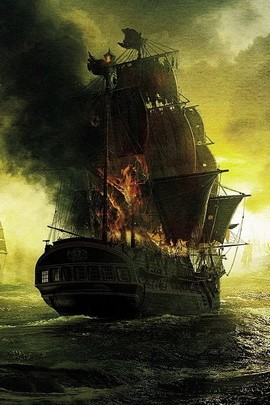 Burning Sailing Ship