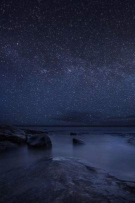 Starry Sky Night Lake