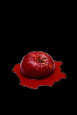 Melting Red Apple 02
