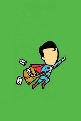 Superman As Postman