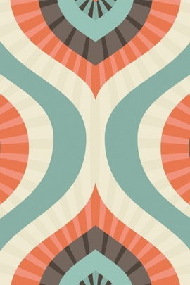 Multi Color Retro Pattern