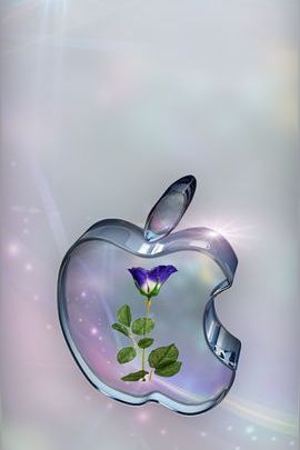 Rose In Glass Apple