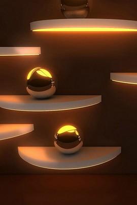 Sphères d'or 3D