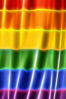 Bright Rainbow Flag