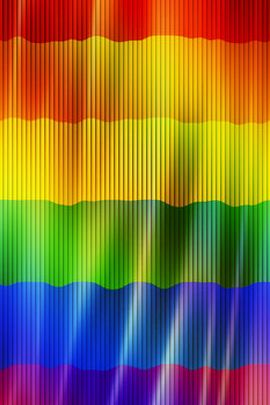 Pinstriped Rainbow Flag
