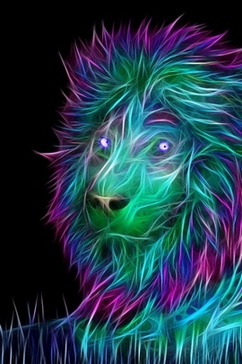 Abstract 3D Art Lion