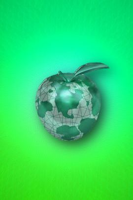 Green Globe Apple 02