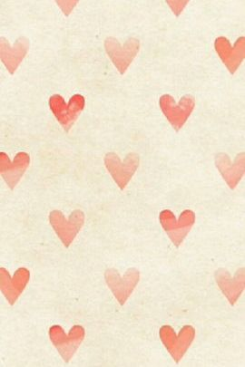 Faded Red Heart Pattern