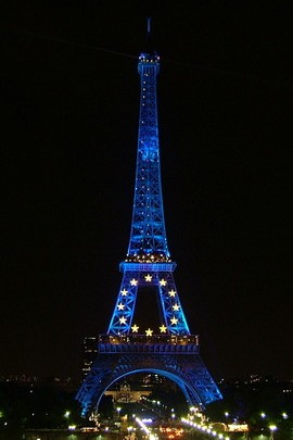 Blue Eiffel Tower