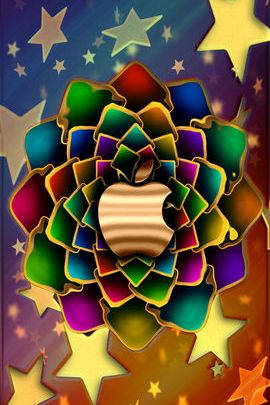 Golden Stars Fractal Flower 02