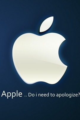 Apple Hand White Text