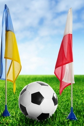 Football Ukraine Poland Ball Grass Flags 79992 720x1280
