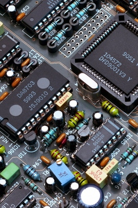 Scheme Chips éléments d'ordinateur noir 29651 720x1280