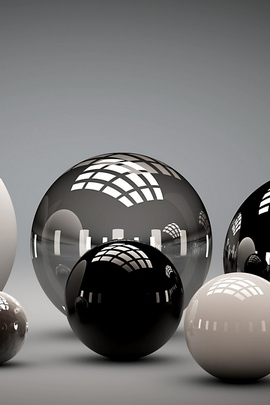 Balls Shape Sleek Reflection 54783 720x1280