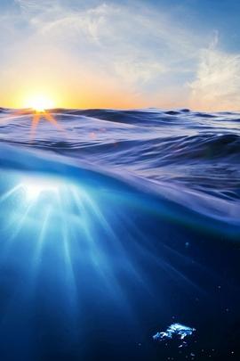 Rise Sea Nature