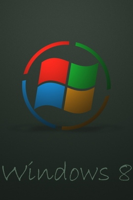 شعار Windows 8 Logo Logo Dark 26208 720x1280
