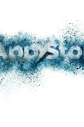 App Storm Apple Mac White Blue Spray