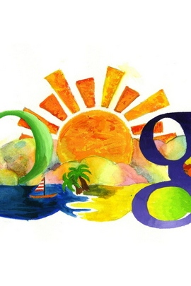 Google Search Logo Summer Drawing 26168 720x1280