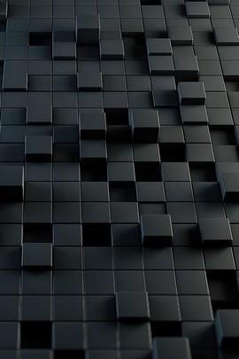 3D Black Cubes