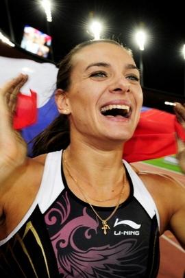 Elena Isinbaeva Girl Flag Smile victory 8802 720x1280