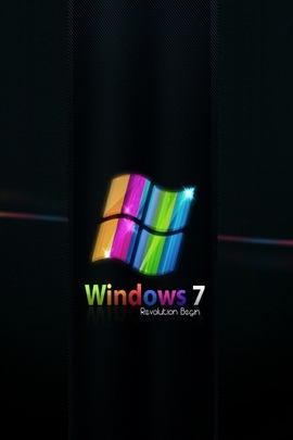 Windows 7 Rainbow Black Blue Green 31038 720x1280