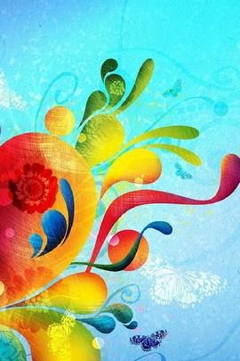 Formas coloridas de batik