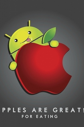 Android Apple Red Green Running Gray 720x1280
