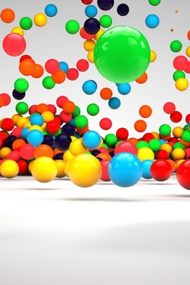 Balls Fall Surface Colorful 30635 720x1280